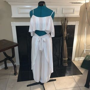 Two piece cropped top and pant
